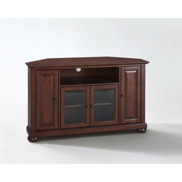 Alexandria 48-Inch Corner TV Stand in Vintage Mahogany Finish, image 1