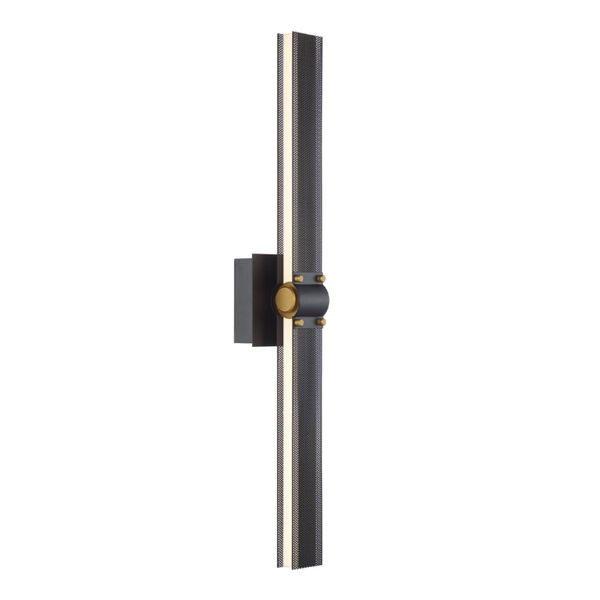 Admiral Matte Balck and Gold LED Wall Sconce, image 2