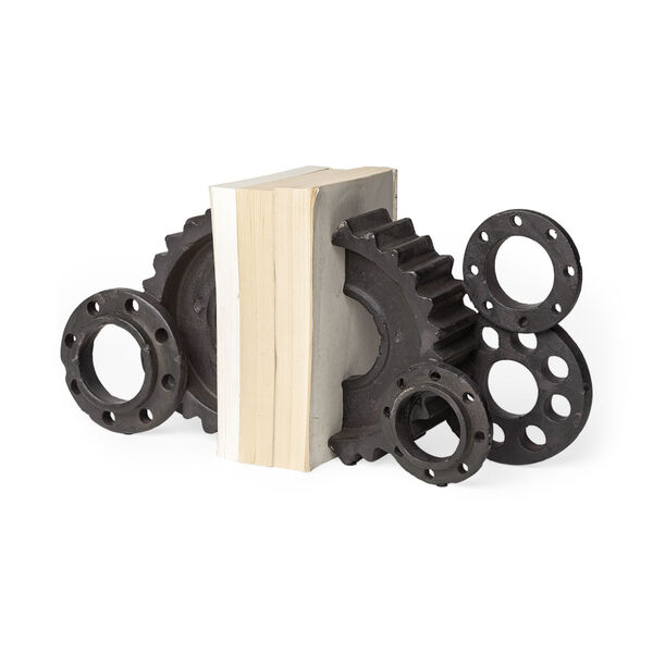 Cogsworth Black Gear Bookend, image 1