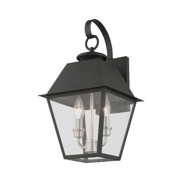 Mansfield Black Two-Light Outdoor Wall Lantern, image 4