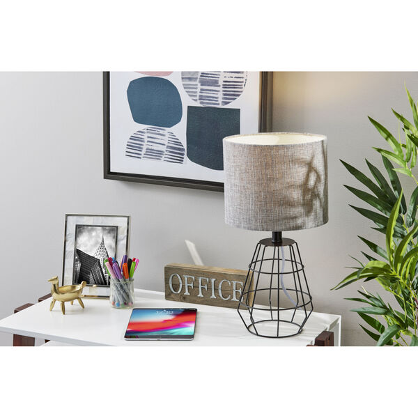 Victor Black One-Light Table Lamp, image 2
