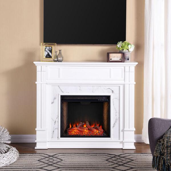 Highgate White Electric Alexa Smart Media Fireplace, image 1