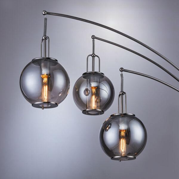Kaira Gun Metal Three-Light Arc Floor Lamp, image 2