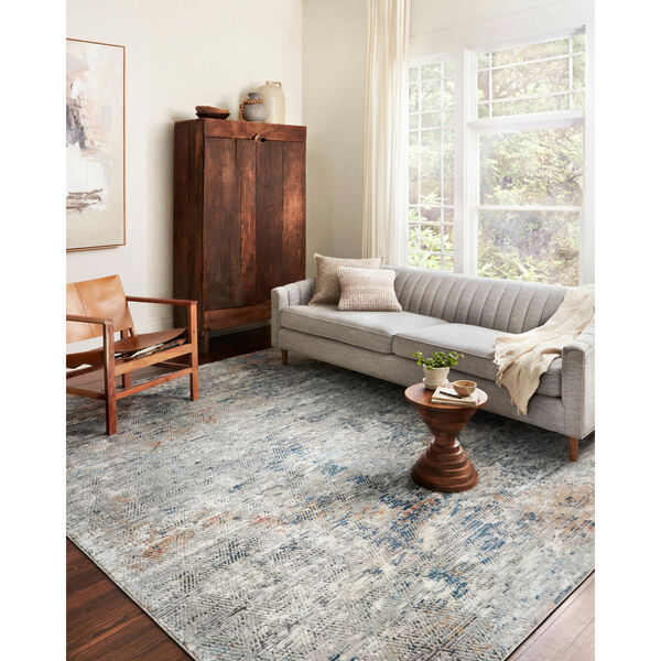 Bianca Gray, Spice and Blue 9 Ft. 9 In. x 13 Ft. 6 In. Area Rug, image 2
