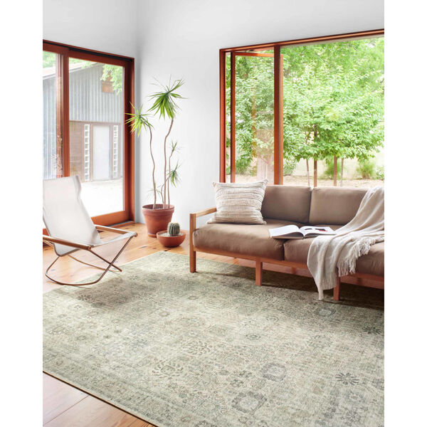 Skye Natural and Sage Rectangular: 2 Ft. 6 In. x 7 Ft. 6 In. Area Rug, image 3