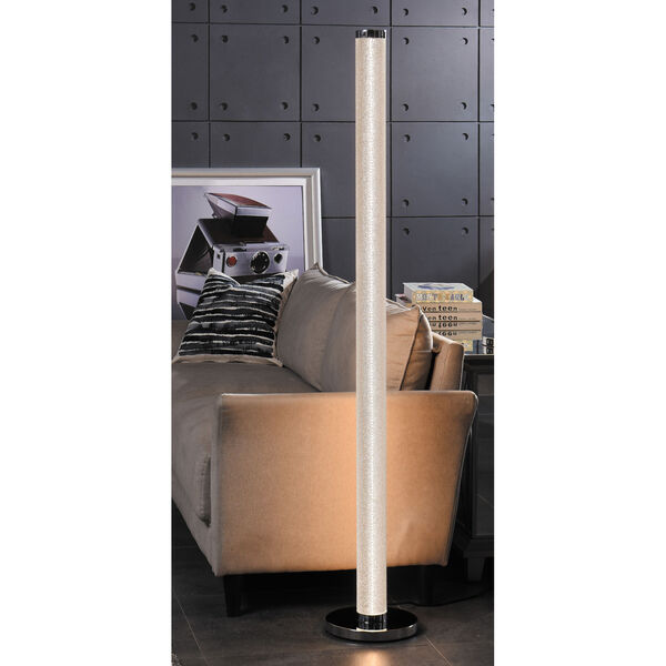 Quilla Chrome Diamond Acrylic LED Floor Lamp, image 3