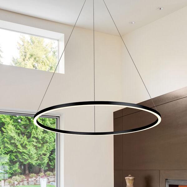 Tania Black 39-Inch LED Adjustable Chandelier, image 1