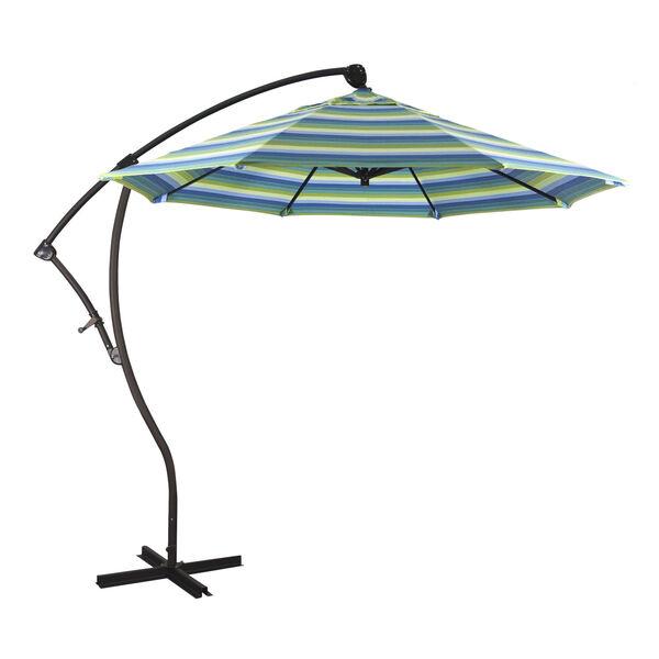 Bayside Bronze with Seville Seaside Nine-Feet Sunbrella Patio Umbrella, image 1