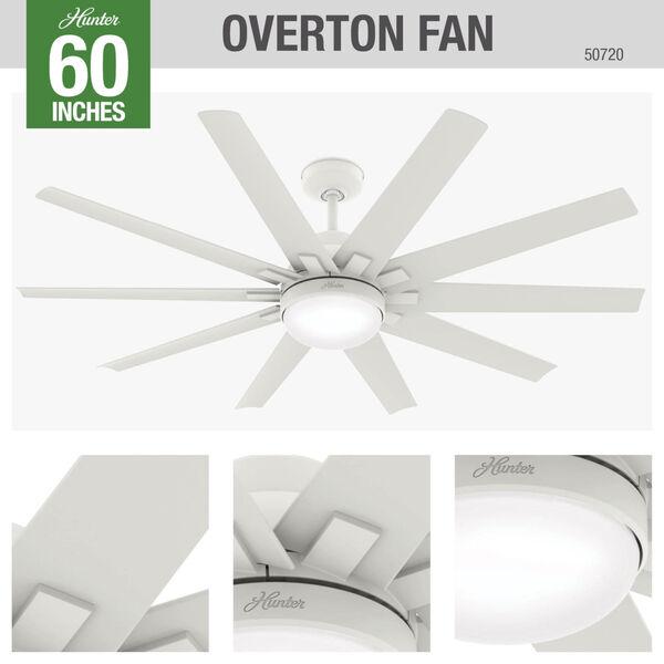 Overton Matte White 60-Inch Two-Light DC LED Ceiling Fan, image 4