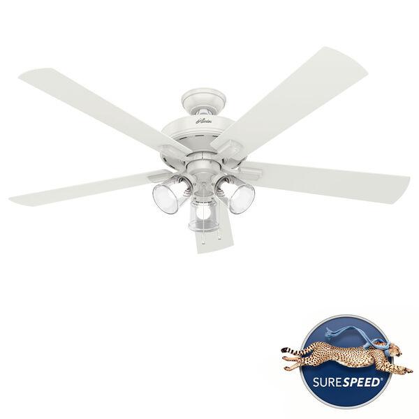 Crestfield Fresh White 60-Inch LED Ceiling Fan, image 1