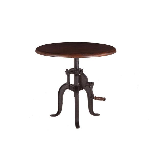 Acacia Small Adjustable Crank Side Table, image 1