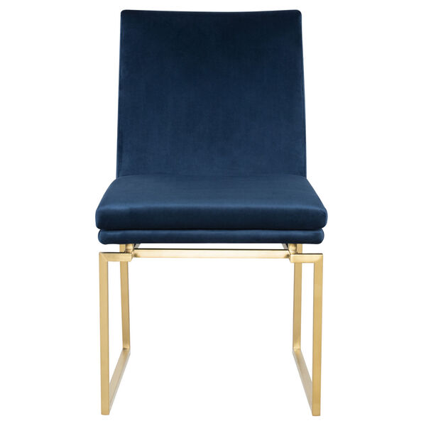 Savine Peacock and Gold Dining Chair, image 6
