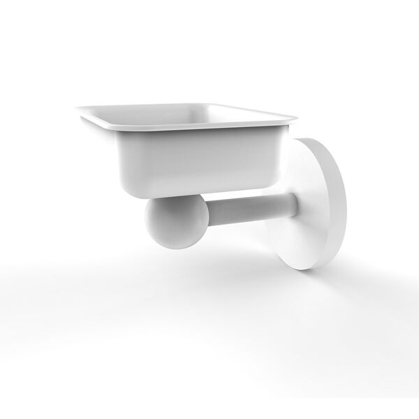 Skyline Matte White Four-Inch Wall Mounted Soap Dish, image 1