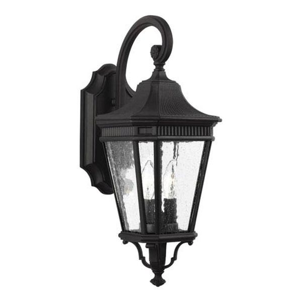 Castle Black 9-Inch Two-Light Outdoor Wall Lantern, image 1