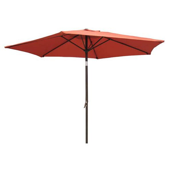8 Ft. Terra Cotta Outdoor Aluminum Umbrella, image 1