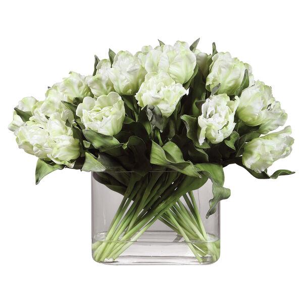 Kimbry White Tulip Centerpiece, image 1