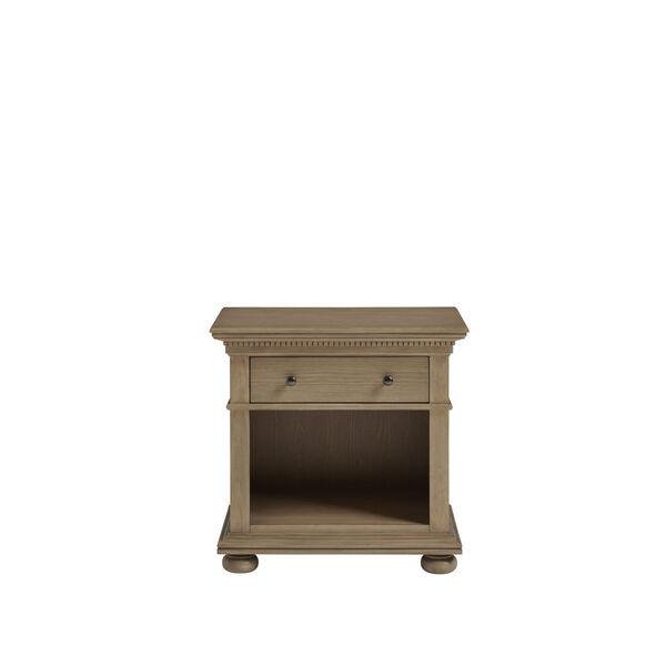 Brown One-Drawer Wood Nightstand, image 1