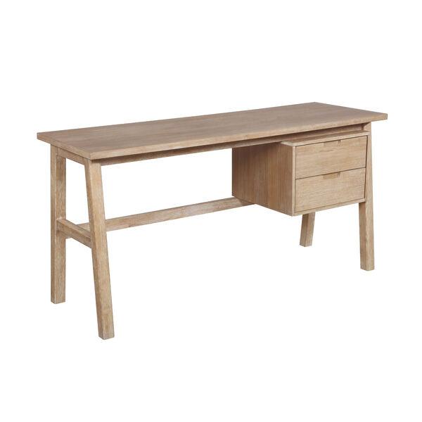 Santiago Natural Desk with Side Storage, image 1