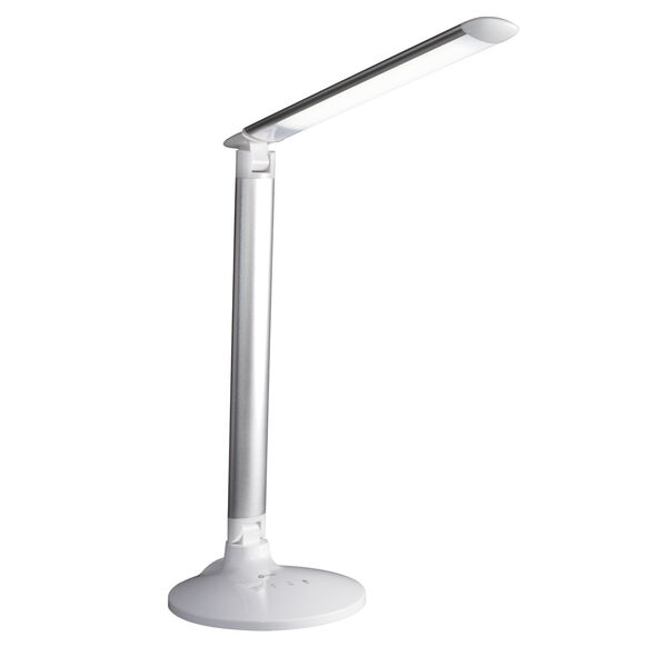 Command Grey LED Desk Lamp with Voice Assistant, image 1