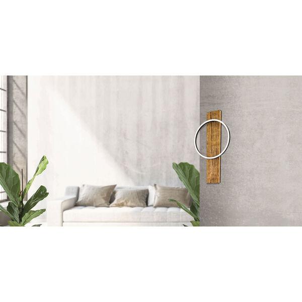 Boyal Brushed Pine Wood Integrated LED Wall Sconce, image 2