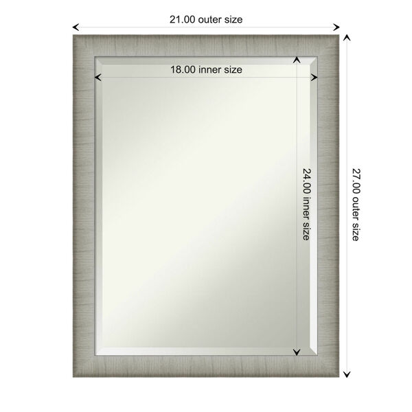 Elegant Pewter 21W X 27H-Inch Bathroom Vanity Wall Mirror, image 6