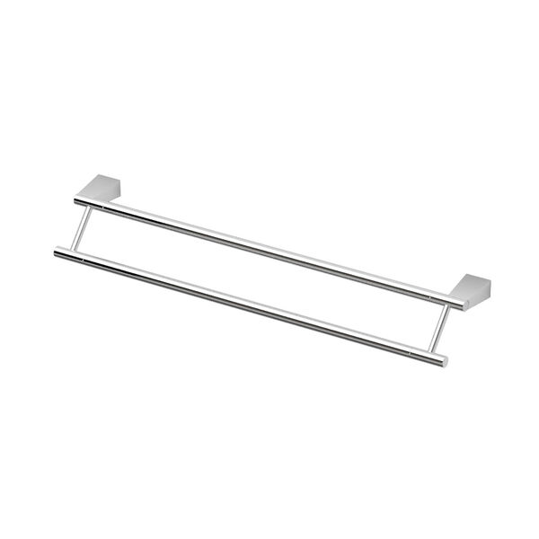 Bleu Chrome 24 Inch Double Towel Bar, image 1