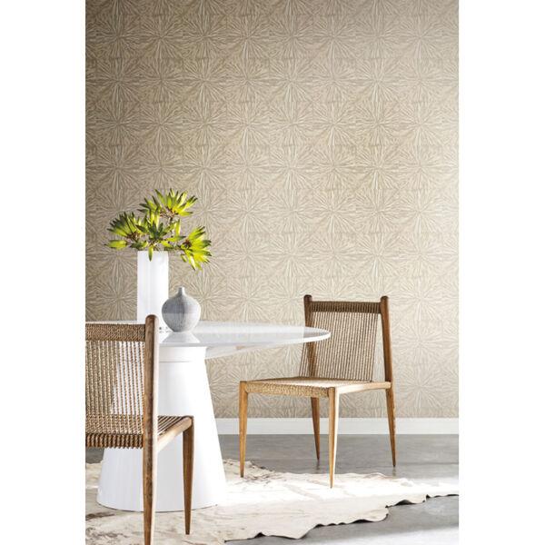 Antonina Vella Elegant Earth Light Gold Squareburst Geometric Wallpaper, image 1