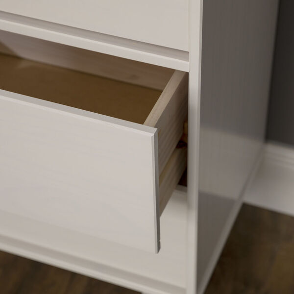 Sloane White Groove Dresser with Six Drawer, image 6