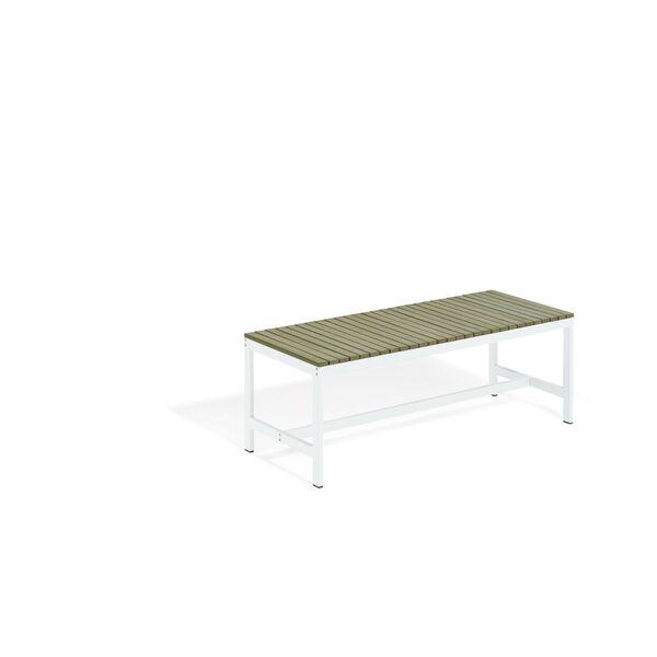 Travira Coated Aluminum Frame Backless Bench, image 1