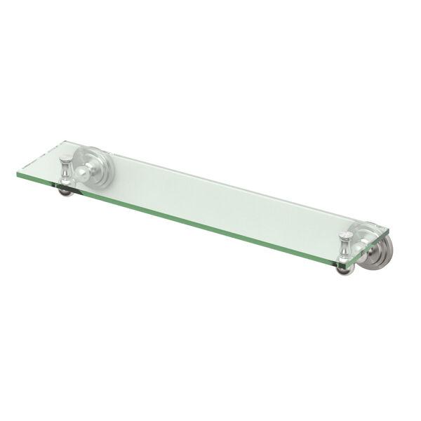 Marina Satin Nickel Glass Shelf, image 1
