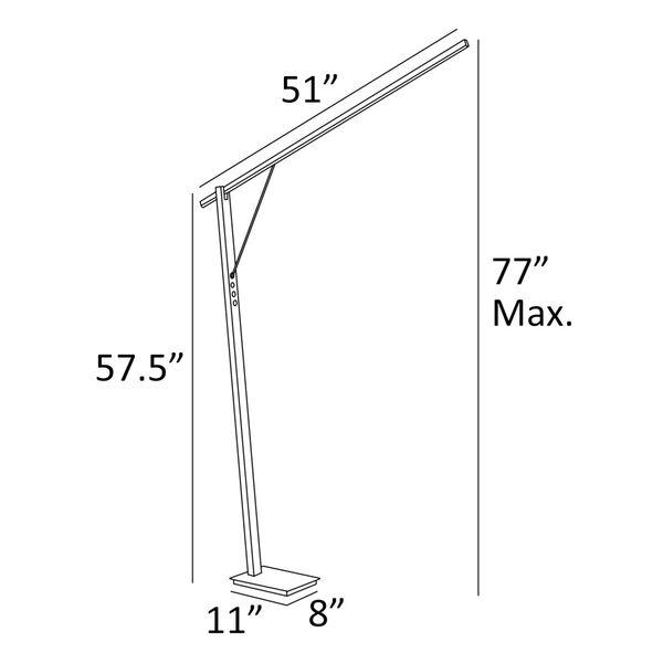 Kylar Black LED Floor Lamp, image 5