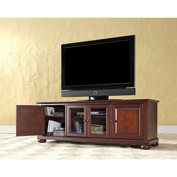 Alexandria 60-Inch Low Profile TV Stand in Vintage Mahogany Finish, image 4
