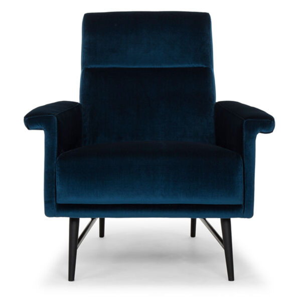 Mathise Midnight Blue and Black Occasional Chair, image 2