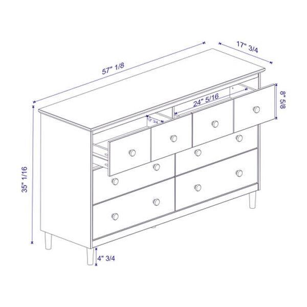 Caramel Six Drawer Dresser, image 5