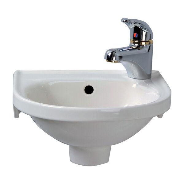 Rosanna White Wall-Mounted Sink, image 1