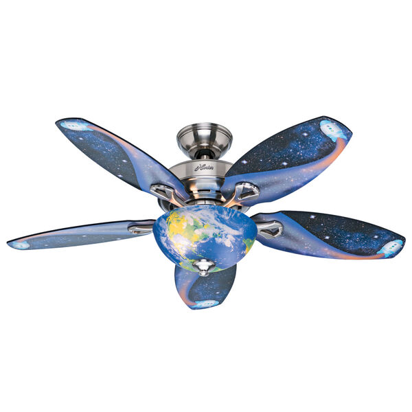 Discovery Brushed Nickel 48-Inch LED Ceiling Fan, image 1