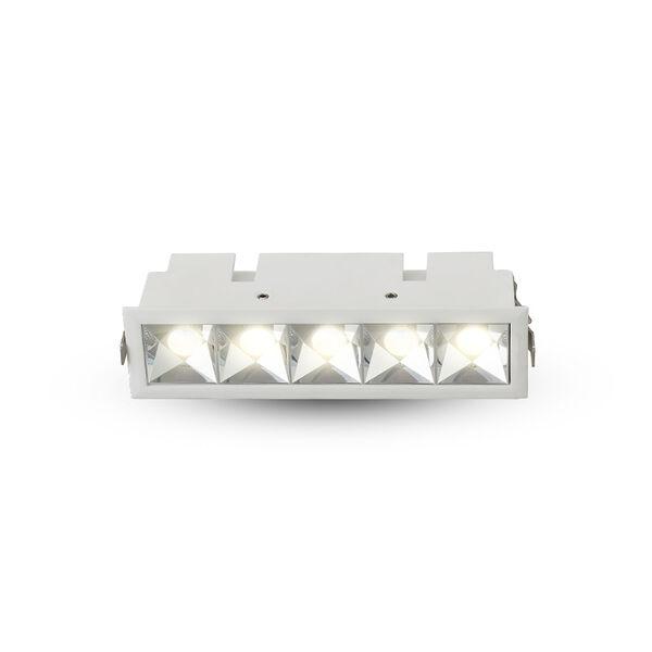 Rubik White Five-Light LED Recessed Downlight, image 2