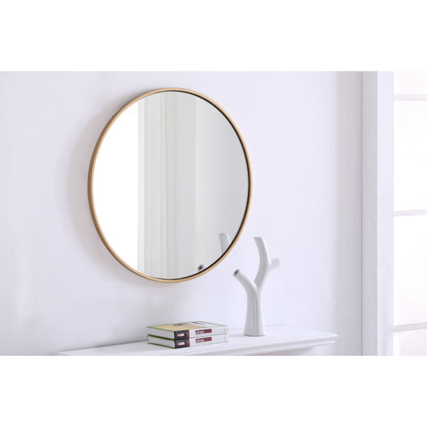 Eternity Round Mirror with Metal Frame, image 4