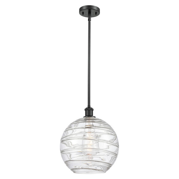 Ballston Matte Black 12-Inch LED Pendant with Clear Glass Shade, image 1