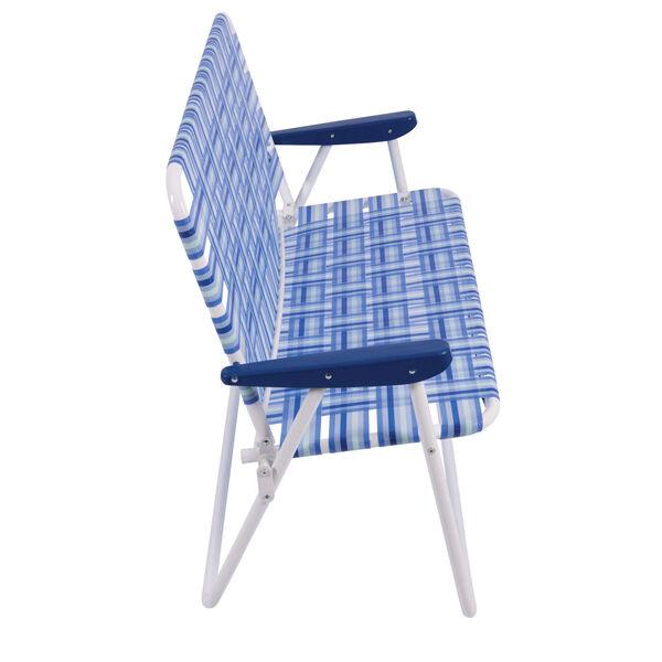 Blue White Web Love Seat, image 4