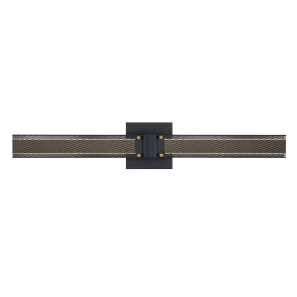 Admiral Matte Balck and Gold LED Wall Sconce, image 3