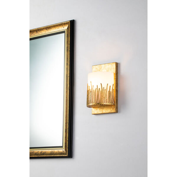 Sawgrass Gold Leaf with Antique One-Light Wall Sconce, image 2