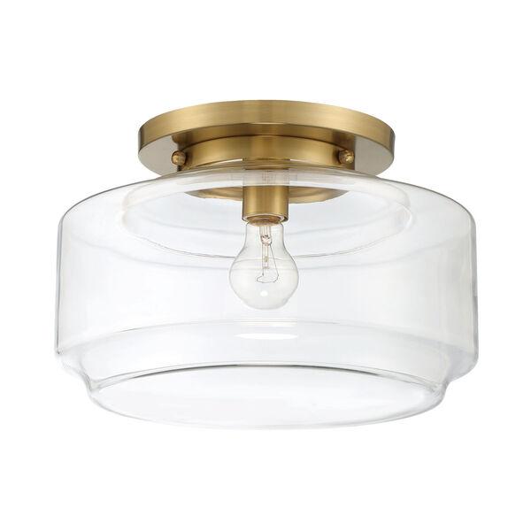 Peri Satin Brass 14-Inch One-Light Flushmount, image 1