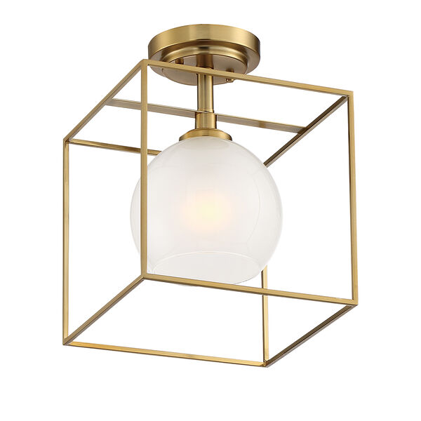 Cowen Brushed Gold One-Light Semi-Flush, image 3