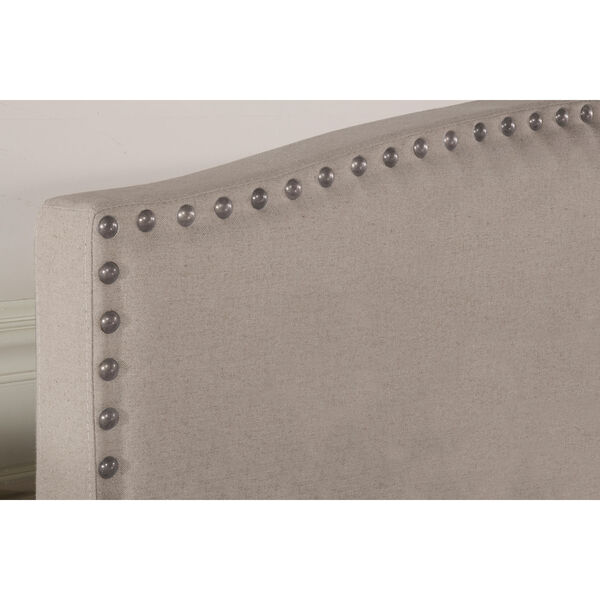 Kerstein Dove Gray Fabric King Headboard Only, image 3