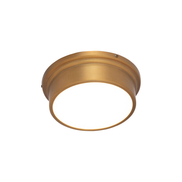 York Aged Brass 8-Inch LED Flush Mount, image 1
