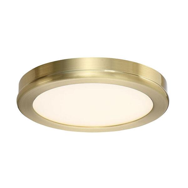 Geos Brass Six-Inch LED Flush Mount, image 1