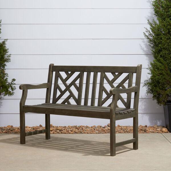 Renaissance Eco-friendly 4-foot Outdoor Hand-scraped Hardwood Garden Bench, image 3