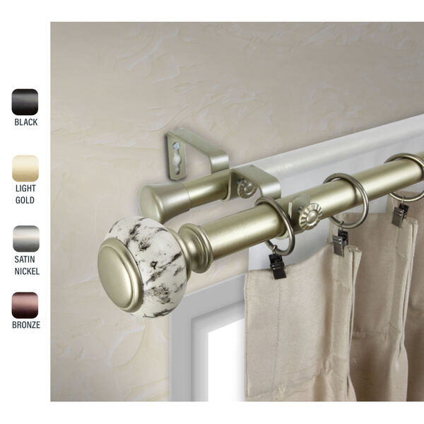 Kelly Gold 160-240 Inch Double Curtain Rod, image 2