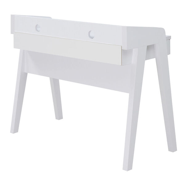 Newport White Deluxe Two-Drawer Desk, image 5